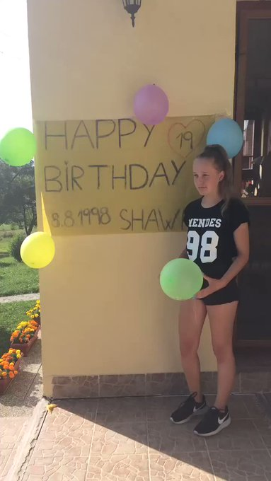 Shawn, you\re big boy.   Happy Birthday Dhawn   I love u soo much