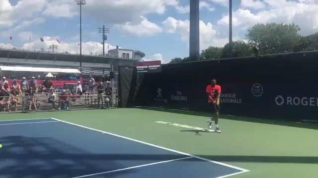 Man of his word, #Kyrgios hits with a fa...