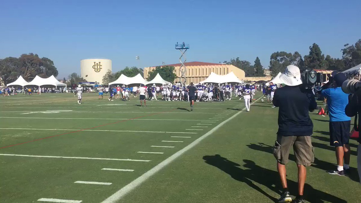 Massive brawl breaks out between the Rams and Chargers at training camp