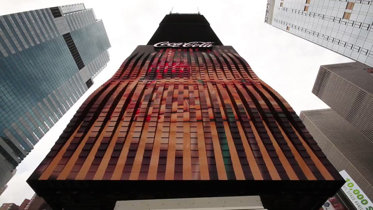 We partnered with @CocaCola to create the world's first 3D robotic billboard in Times Square. Designed for a new dimension.