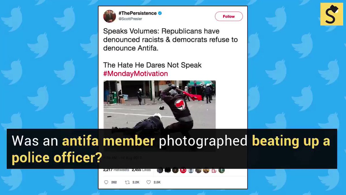 Antifa assault photo doctored