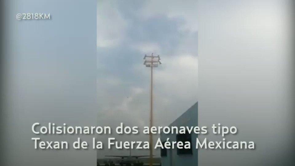 Video | Así fue el choque de las aeronaves de SEDENA durante ensayo aé...