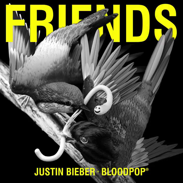 New @justinbieber x @bloodpop #Friends OUT NOW 👭👬👫 https://t.co/fCCO2N...