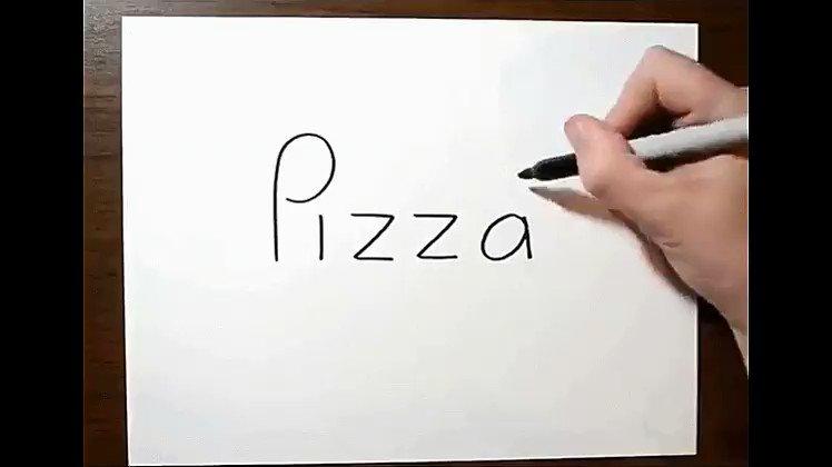 Asombroso ejercicio de @jjhnumber27 en convertir palabras en dibujos