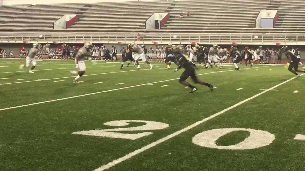 Damien Tate makes a host of Scotlandville defenders miss, goes all the way for the TD https://t.co/Qb7z6VUvxF