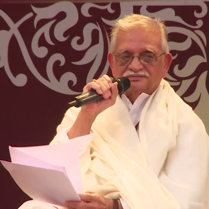 #Gulzar weaves magic through his Urdu nazm reviving the life of Ghalib...