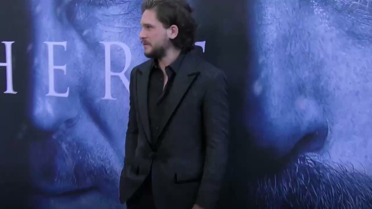 Emilia Clarke captured a video Kit Harington pretending to be a dragon...