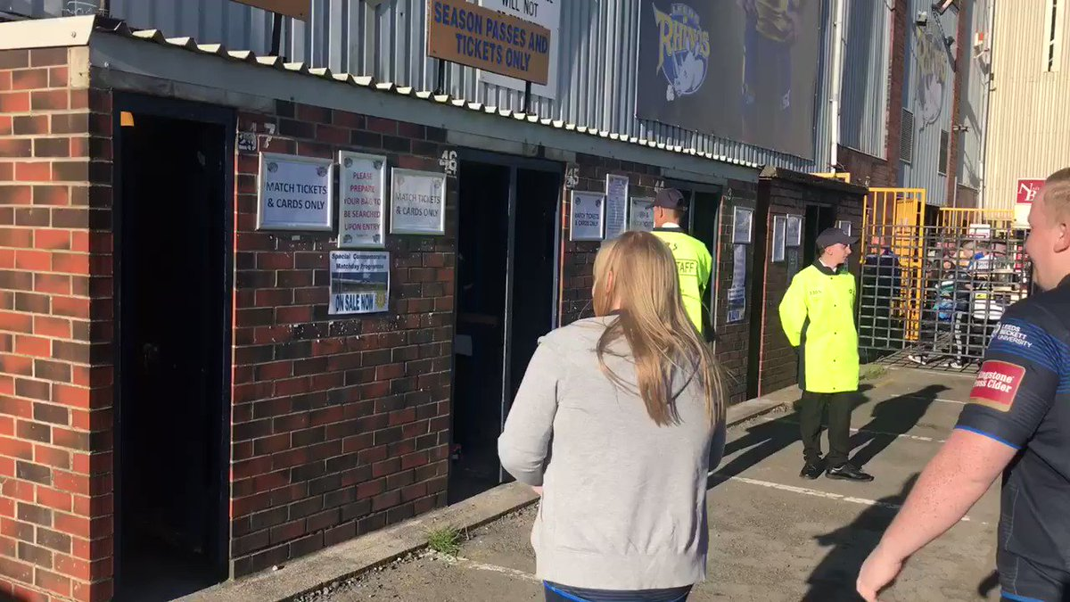 Our fans enter the #SouthStand turnstiles for the last time #LastStand...