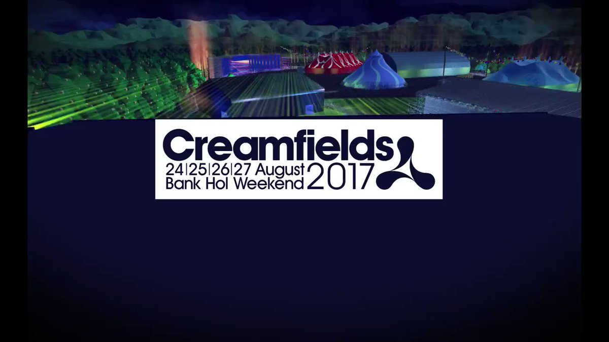 Creamfields by night.....Who's ready for this!? Just 6 days to go! #Creamfields2017