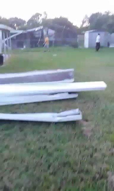 Apparent tornado damage in Rockledge Friday evening. @WFTV @IreneSans...
