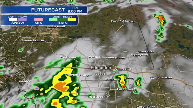 6:40pm update on the storm risk for this evening.  #yeg #yegwx #abstor...