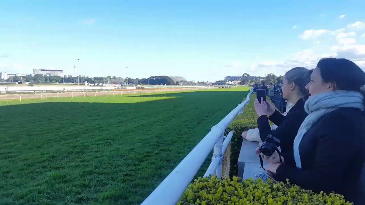 Holy moley!! Winx just gets the win after bombing the start - and the crowd goes mental! #GoWinx #horseracing https://t.co/IvAy1BI3tM