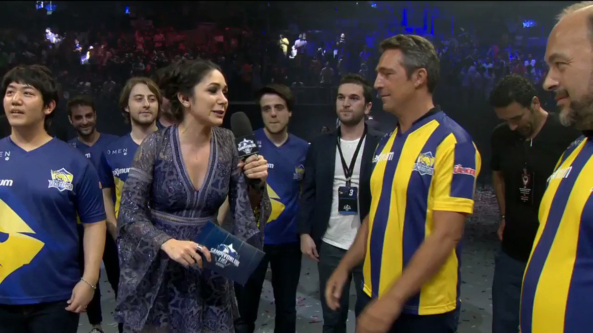 #TBF2017'de şampiyon olan 1907 Fenerbahçe Espor'un Başkanı Ali Koç, şa...