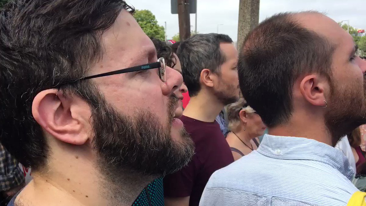 CHANT IN BOSTON: 'No hate, no fear, Nazi's are not welcome here!'  #Bo...