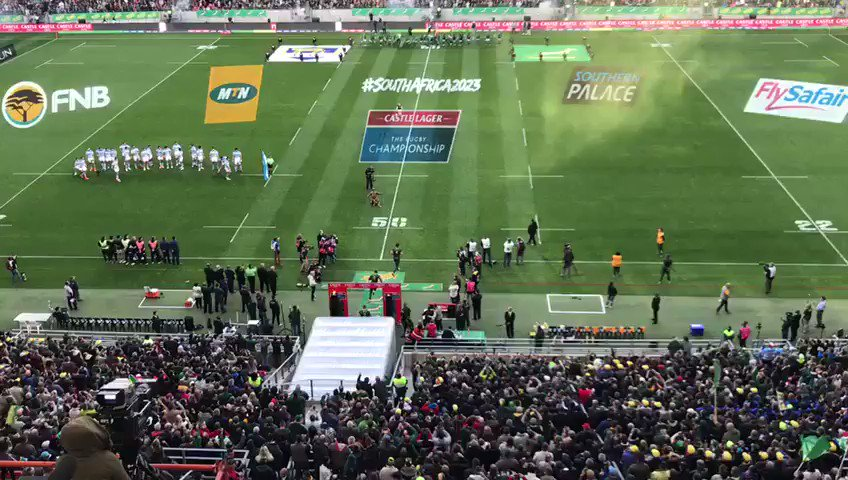 VIDEO: The #Springboks run onto the field at Nelson Mandela Bay Stadiu...