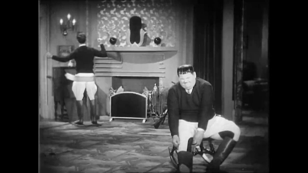 Stan relaxing in Be Big. #LaurelAndHardy