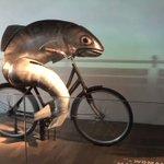 なんだこれはw自転車をこぐ魚がキモすぎる!