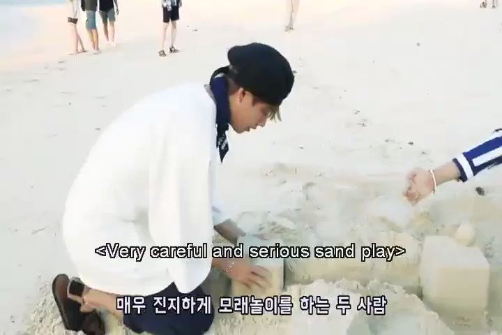 Hoseok's laugh when he saw Taehyung's se...