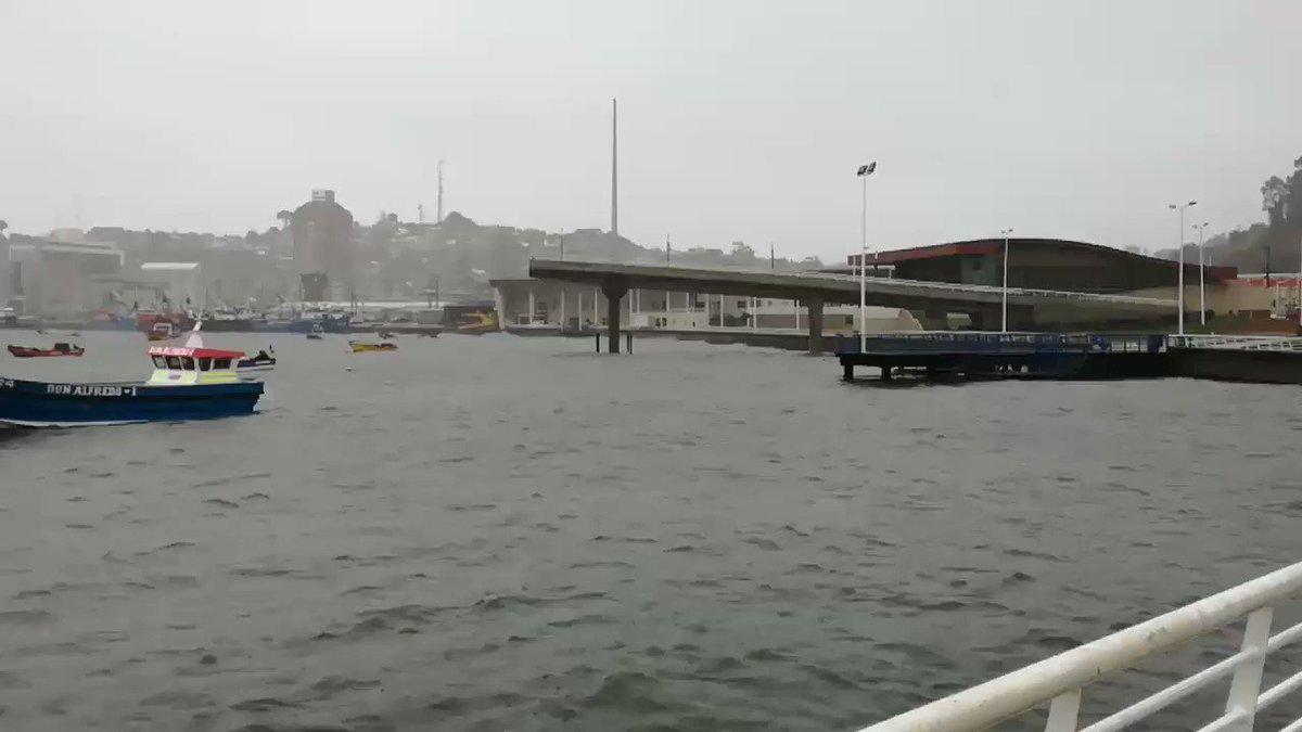 RT @MetArmada_Thno #temporal  Fuerte 🌬 #viento 🌊 #marejadas y 🌧 #Precipitaciones en #Talcahuano  @reddeemergencia  @sitiodelsuceso @Chororois  @Radio_Emergenci