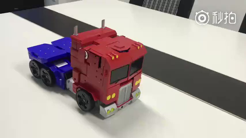 Check out the self-transforming Optimus Prime in color! https://t.co/obOnw9HYmo