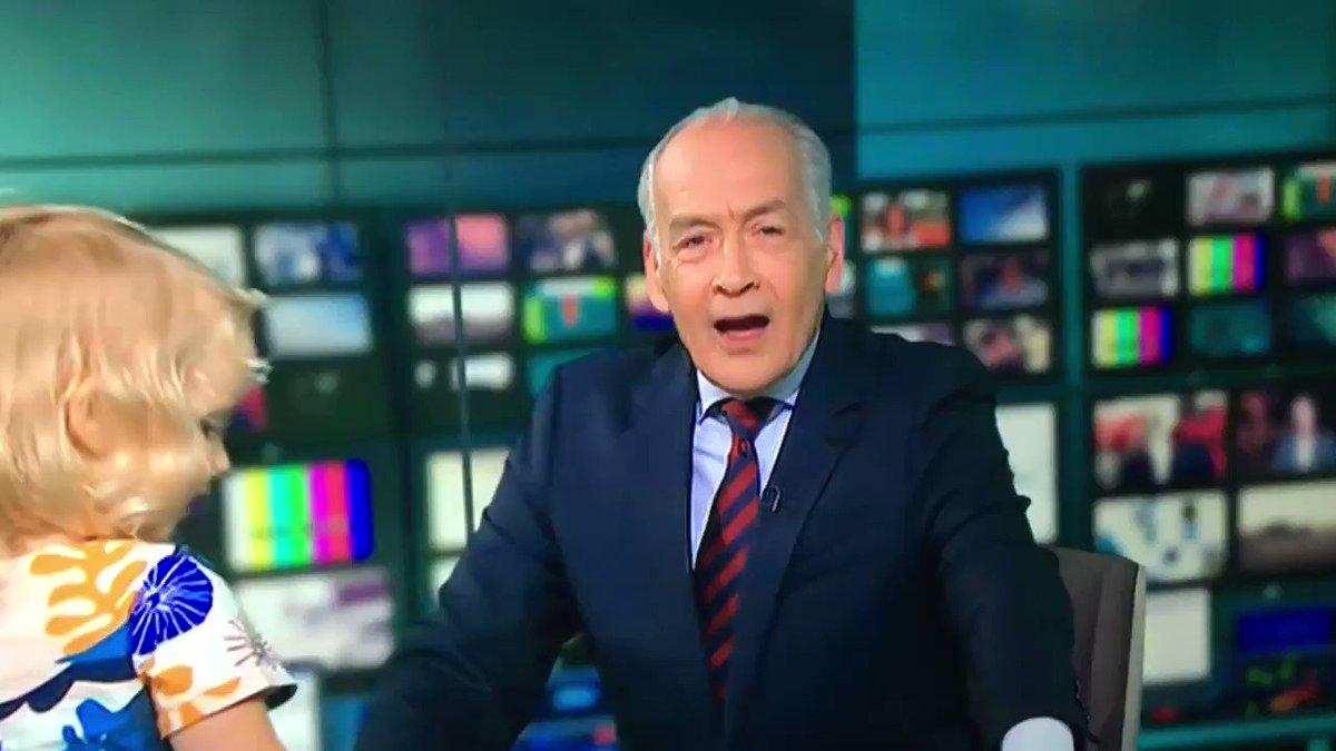 Milk debate turns sour as toddler runs amok in news studio