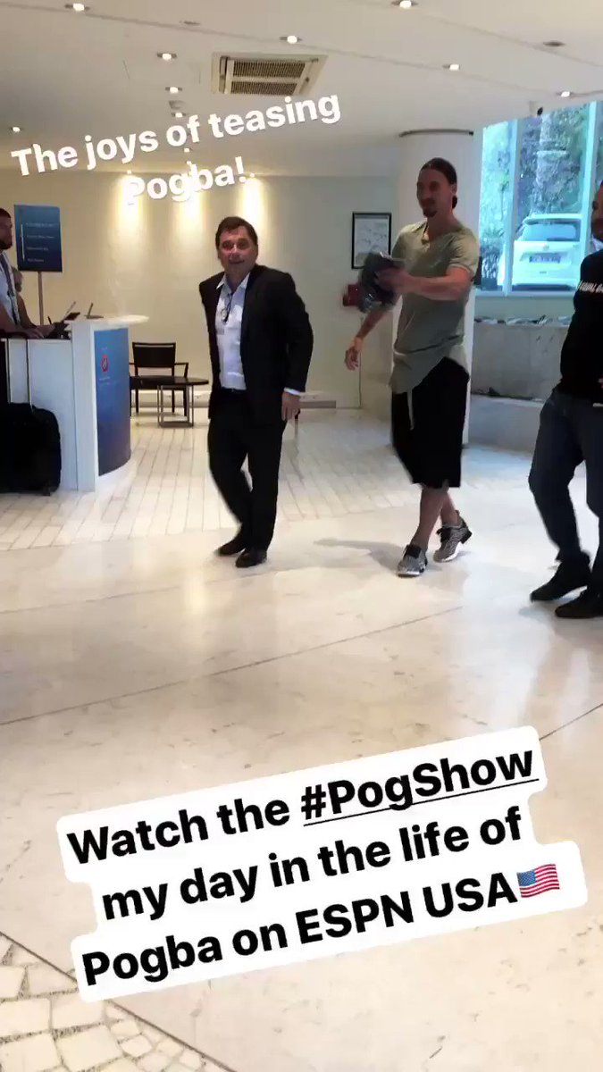 .@Ibra_official teasing @paulpogba https://t.co/ltmIPmz77p https://t.co/V42TX0GPzj