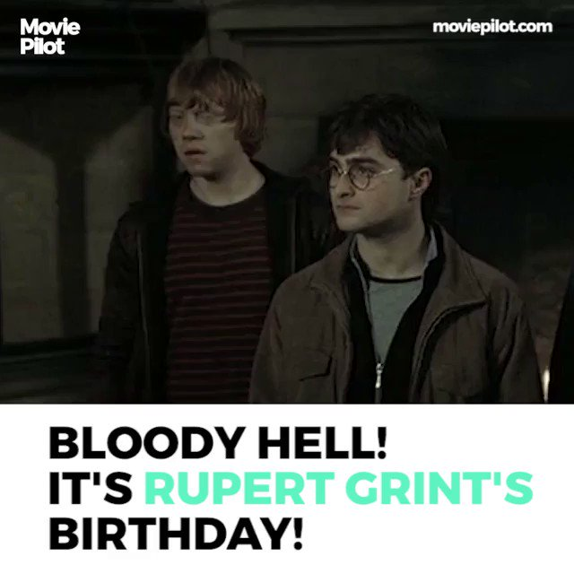 Happy Birthday, Rupert Grint! Hope it\s a bloody great one.