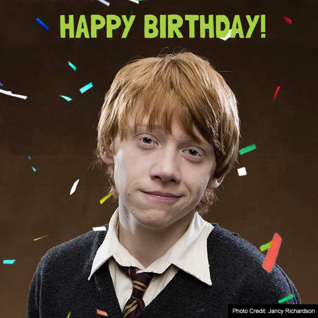 Happy 29th birthday to Rupert Grint, aka Ronald Weasley!