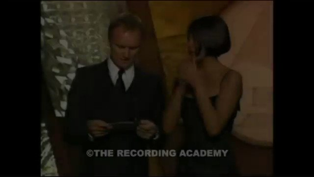 Whitney giving Lauryn the award >