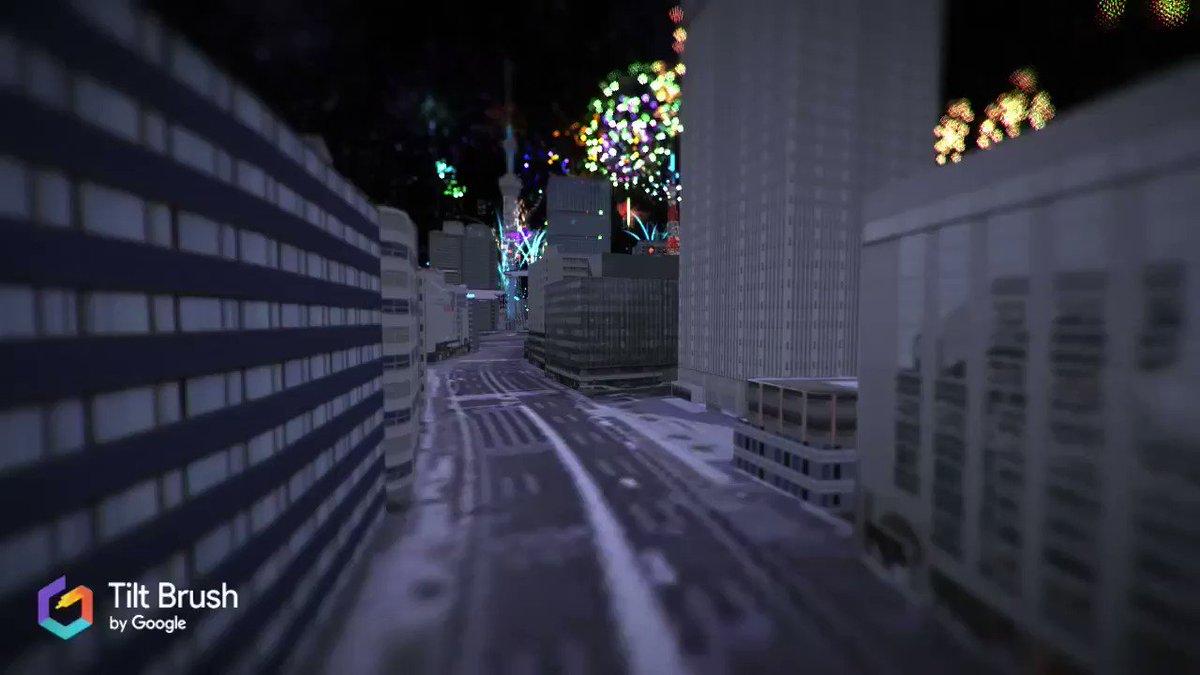 【リアル3D都市データ×VRアート】CAD CENTER,Yahoo! LODGEとのコラボで…東京の空に雨でも中止にならない花火を打ち上げる事が出来ました