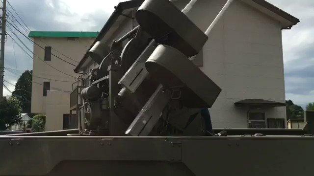 M16スカイクリーナーのM45四連装対空機関銃、ぐりんぐりん動いてました。乗ってみたい!ヽ(´▽`) https://t.co/lTFEqvdTEw