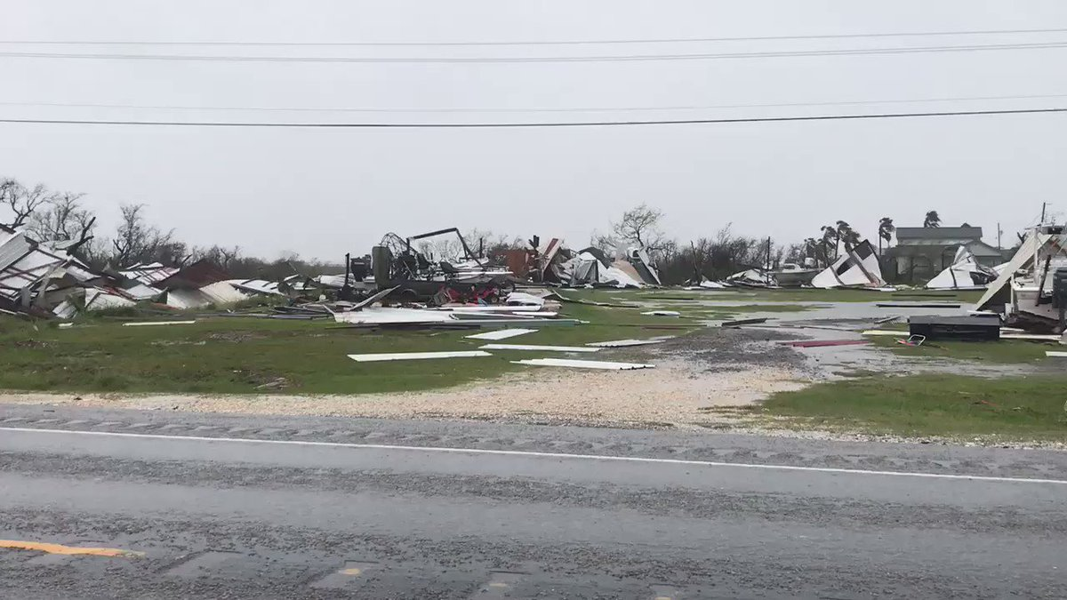 Reed Timmer On Twitter Major Devastation In Holiday Beach Tx Just North Of Rockport Worst Yet We Have Seen From Harvey Breakingweather