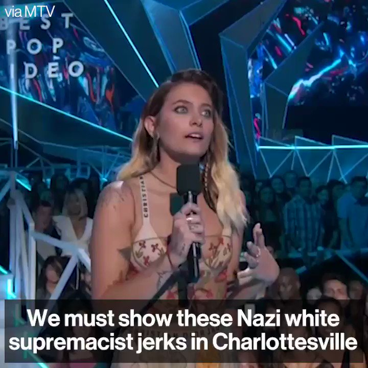 Paris Jackson Delivers a Powerful Speech Against 'Nazi Jerks' at the 2017 MTV VMAs