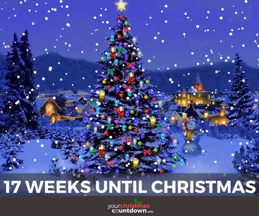 your christmas countdown on twitter exactly 17 weeks until christmas click the link to see the live countdown httpstco08kjvawqc2 - Weeks Until Christmas