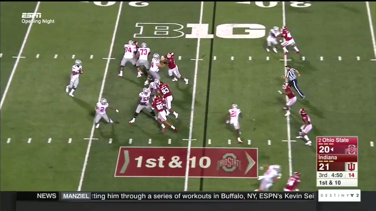 "Indiana Fans Start ""Overrated"" Chant, Ohio State Scores 74-Yard Touchdown On Next Play"