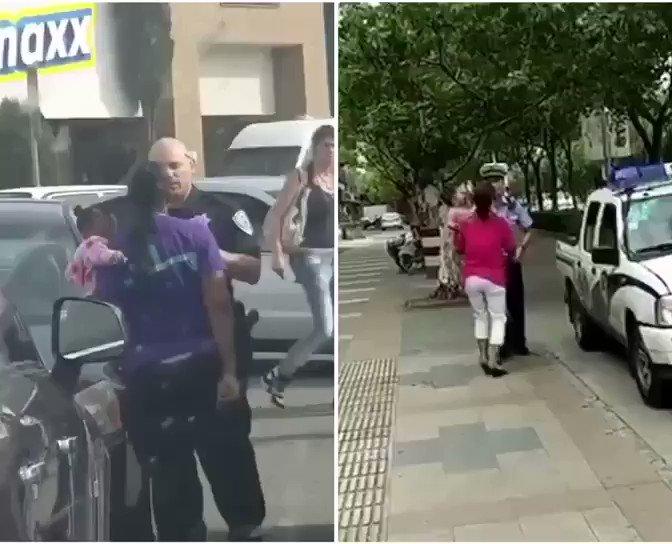 有人说,那个抱娃的上海妇女如是在美国与警察发生争执,早就被一枪击毙了。美国警察果真是这样子执法吗?看看网民发的视频吧! https://t.co/mYI8xDmGcF