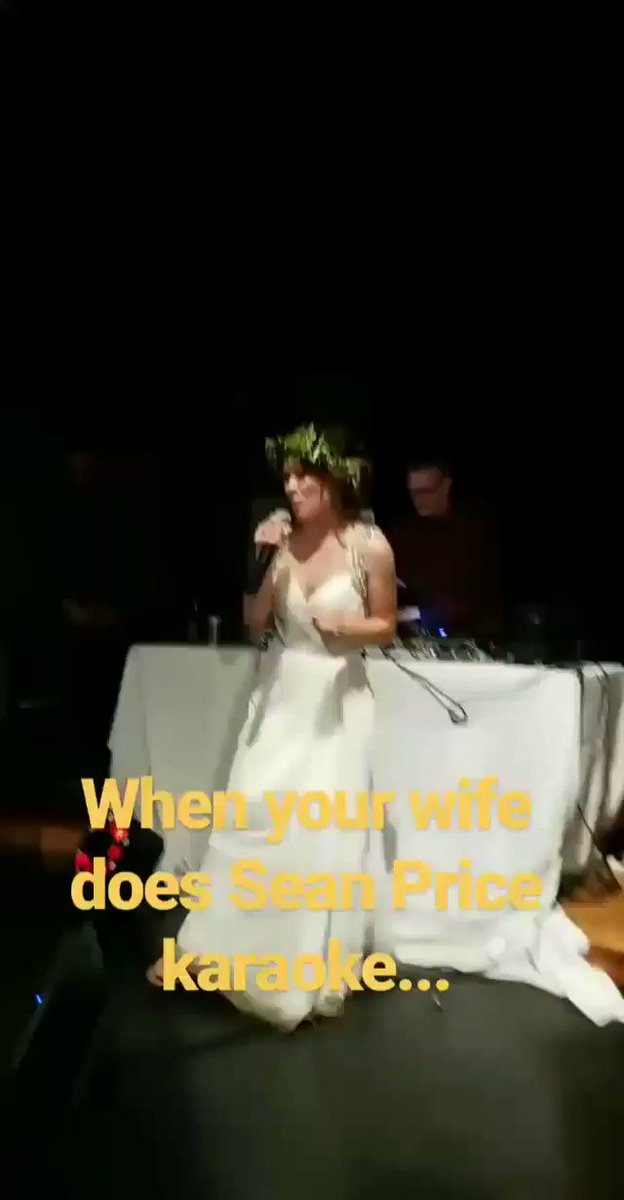SON! @BillyLomanMusic's wife did #SeanPrice karaoke for their wedding. He won. Big time. #RIPSeanPrice https://t.co/T17UfnvSO1
