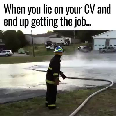 When you lie on your CV and ends up getting the job