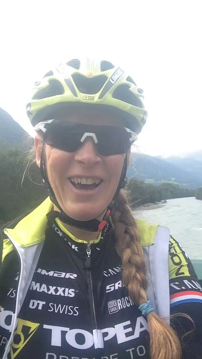 Bigger and definitely slower but still enjoying biking @TeamTopeakErgon @canyon_bikes