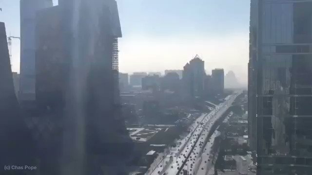 It takes just 20 minutes for Beijing to be choked by deadly smog! 🌎 #Wow #WednesdayWisdom #TimeLapse