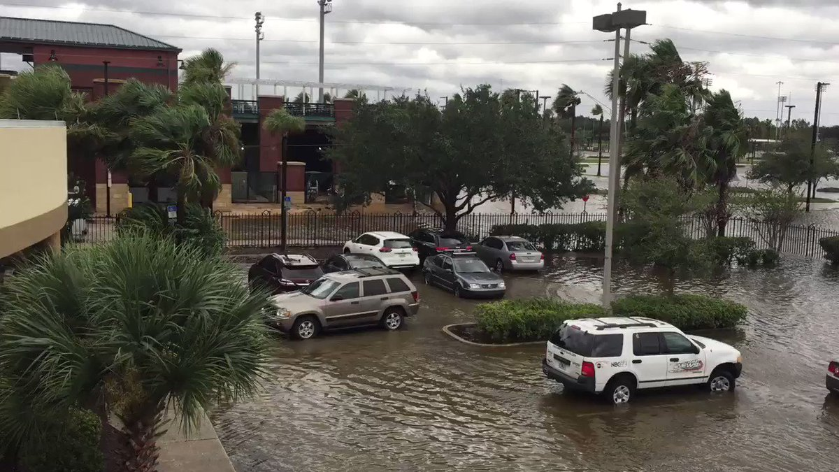 Videos Show Tremendous Flooding Outside The Jaguars' Stadium