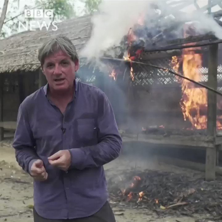 BBC caught #Rakhine Buddhists burning #Rohingya homes, who admitted they've done this with the help of the police. https://t.co/fJut1hYDuh