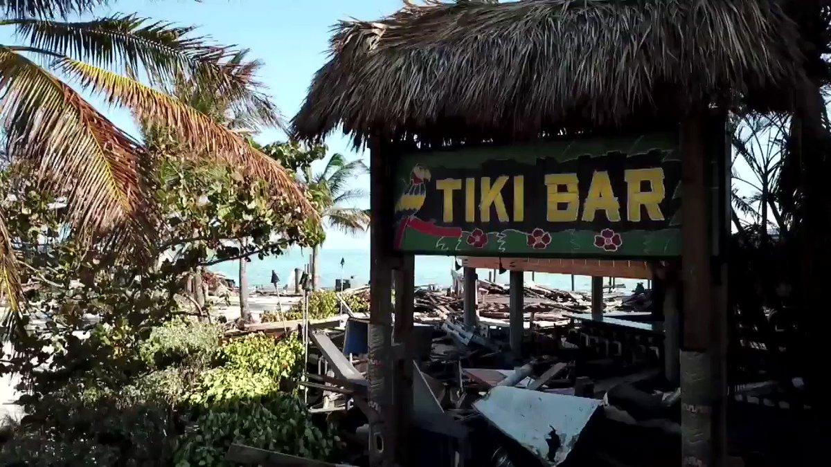 #7DroneCam flew over the Tiki Bar and Raw Bar in Islamorada. #HurricaneIrma