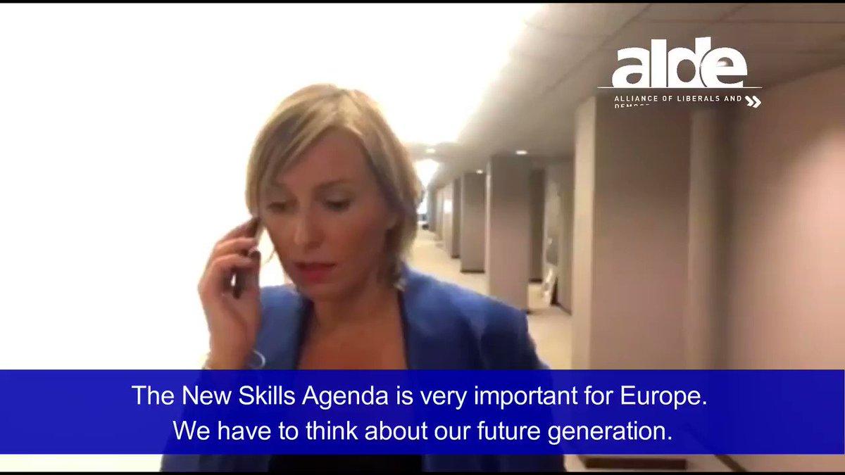 .@Mdlabajova We welcome the #NewSkillsAgenda ! It's time to #SwitchOnEurope💡with #Entrepreneurship #Education