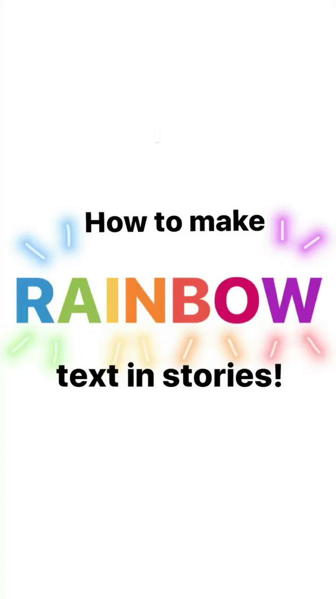 Happening now on our Instagram story: how to make rainbow text in stories! �� https://t.co/B4f9VXqHPx