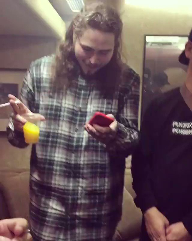 Post Malone singing tongue tied will make your day better.