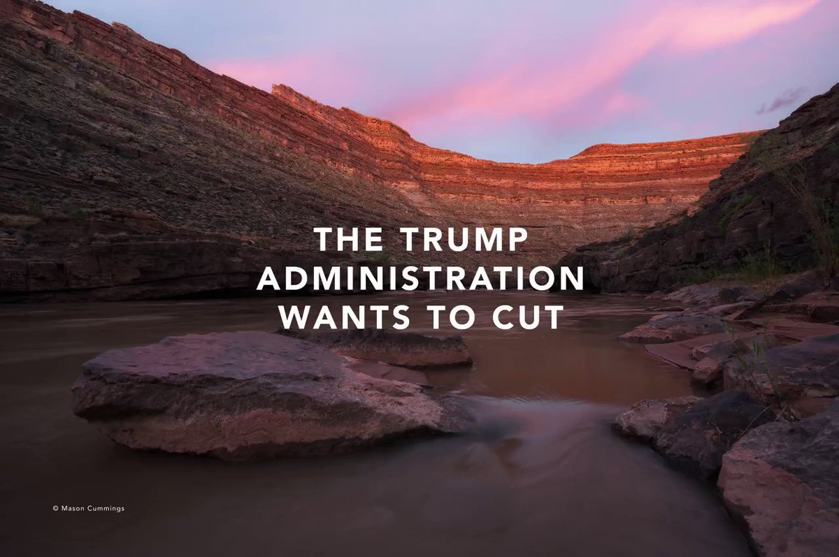 Tell .@realDonaldTrump and .@SecretaryZinke not to gut our national monuments. These lands are #OurWild https://t.co/Mdqlxh82uE