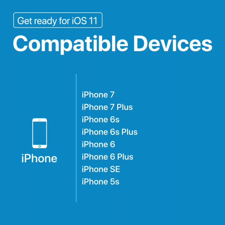 #iOS11 will start rolling out for compatible iPhones|iPads|iPods from 10:30pm (IST) today @Apple