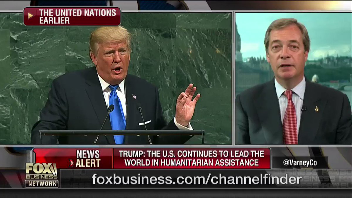 Trump's UK approval ratings will go up significantly after this UN speech. https://t.co/54Sr8ojhCL