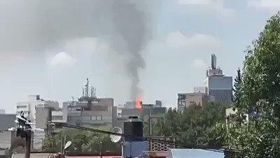 Varios #derrumbes y #explosión luego del #terremoto en #Mexico sorprendente registro de 💥